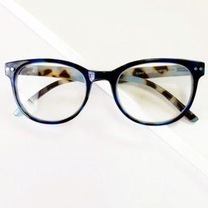 Eden reading glasses in Tortoise Navy